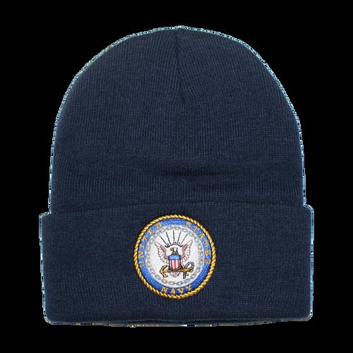 US Navy Embroidered Logo Beanie