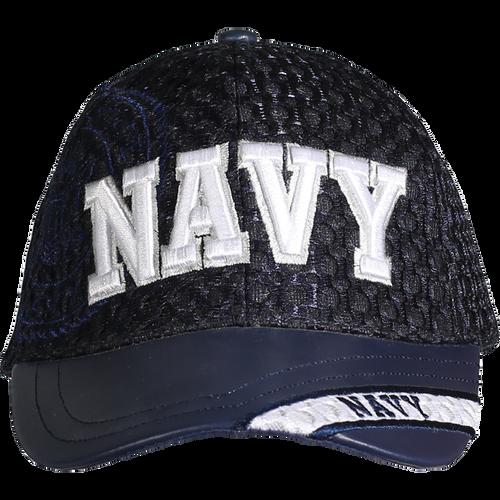 US Navy Leather Brim Cap