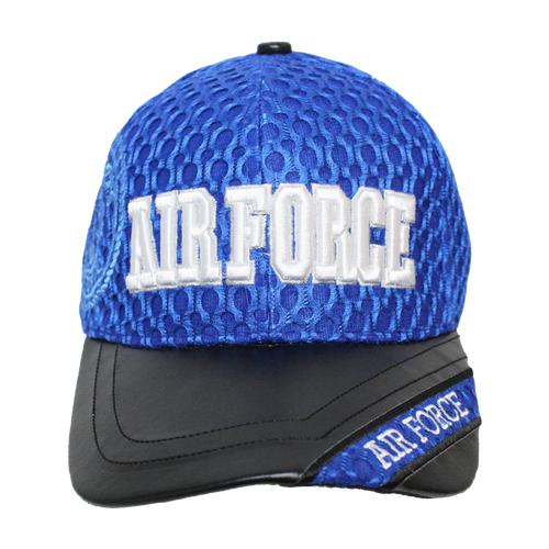 US Air Force Leather Brim Cap