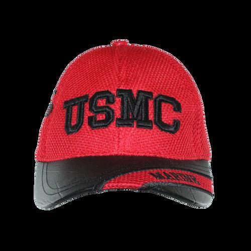 US Marines Leather Brim Cap