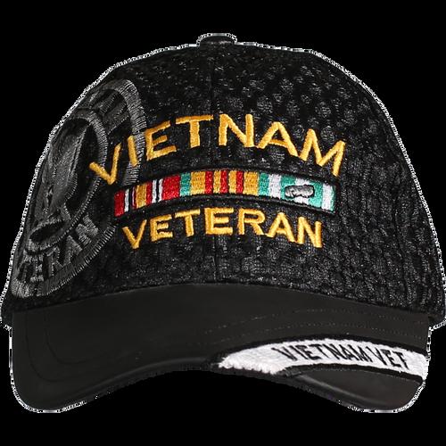 Vietnam Veteran Leather Brim Cap