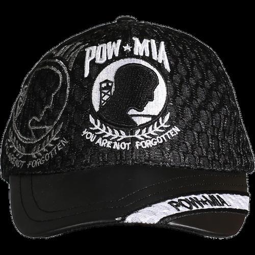 POW/ MIA Leather Brim Cap