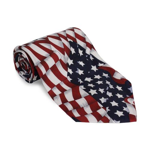 American Flag Stars & Stripes Neck Tie