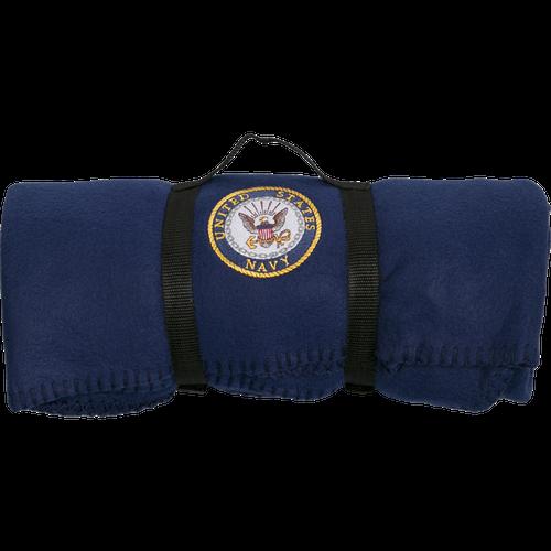 US Navy Polar Fleece Blue Blanket