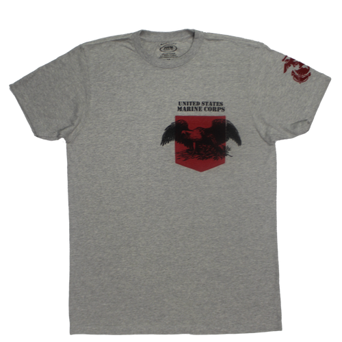 Made in the USA: US Marines Colored Pocket T-shirt