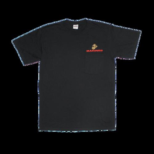 US Marines Black Pocket T-shirt