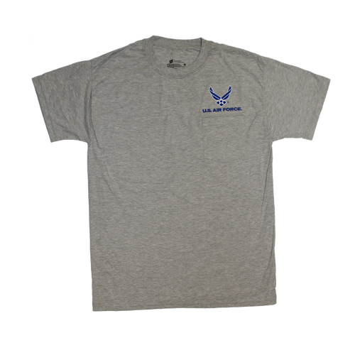 US Air Force Heather Gray Pocket T-shirt