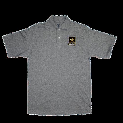 US Army Gray Pocket Golf Shirt