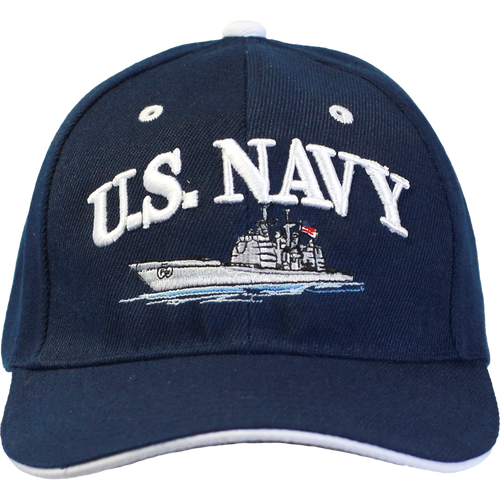 Embroidered US Navy Cap with Ship
