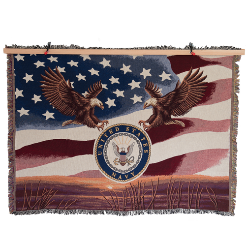 Made in the USA: US Navy Tapestry Blanket