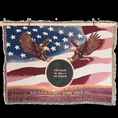 Made in the USA: Vietnam Veteran Tapestry Blanket