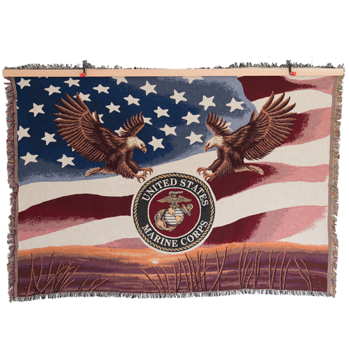 Made in the USA: US Marines Tapestry Blanket
