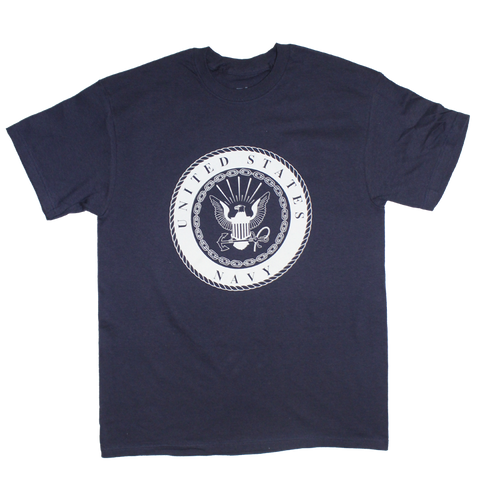 US Navy Solid Color Front Logo T-shirt
