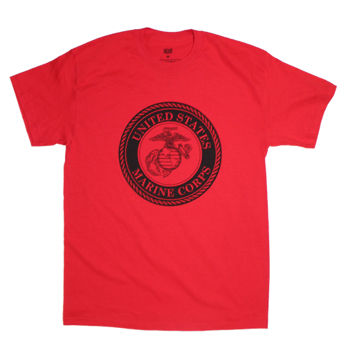 US Marines Solid Color Front Logo T-shirt