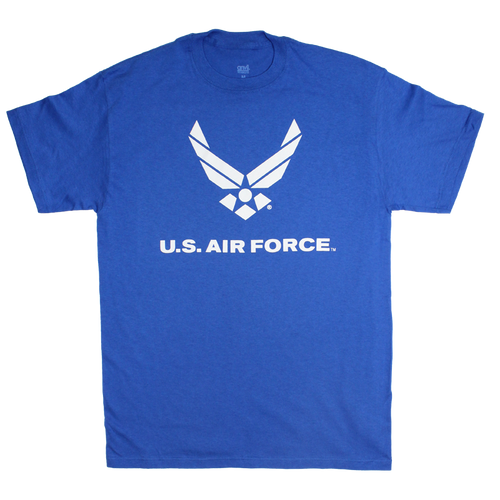 US Air Force Solid Color Logo Front T-shirt