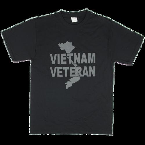 Vietnam Veteran Solid Color Logo Front T-shirt