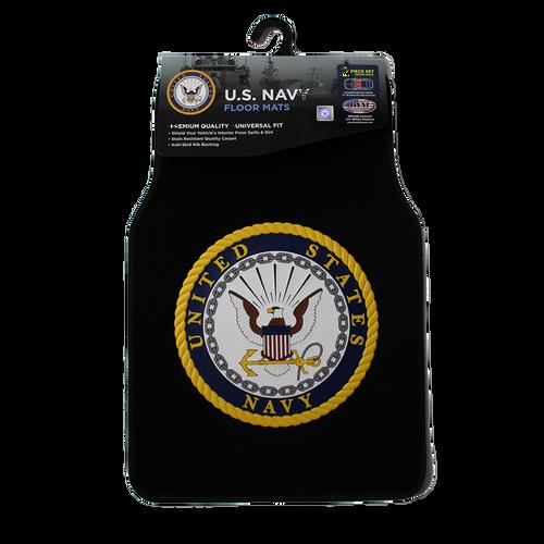 US Navy Two Piece Car Floor Mat Set