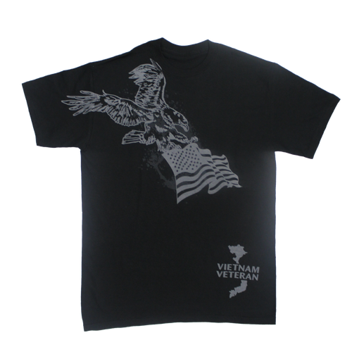 Made in the USA: Vietnam Veteran Eagle Flag T-shirt
