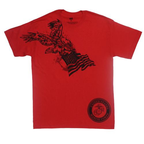 MADE IN USA Eagle Flag T-shirt - Marines
