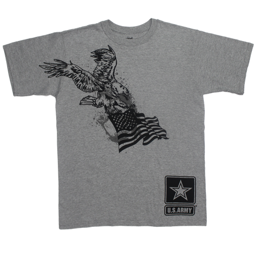 MADE IN USA Eagle Flag T-shirt - Army