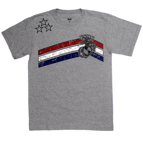 Made in the USA: US Marines Stars & Stripes T-shirt