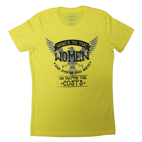 Made in the USA: Women's Here's to the Women T-shirt