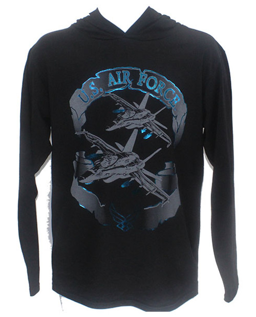 Made in the USA: US Air Force Foil T-shirt Hoodie