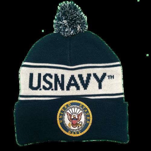 US Navy Pom Knit Beanie