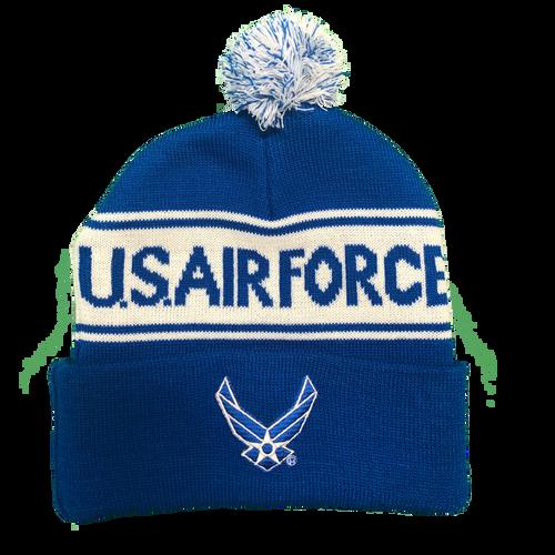 US Air Force Pom Knit Beanie