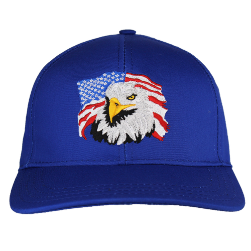 Made in the USA: Embroidered Eagle Flag Cap