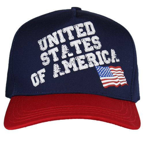 Made in the USA: American Flag Screen Printed Cap