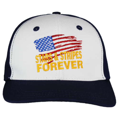 Made in the USA: Embroidered Stars & Stripes Cap