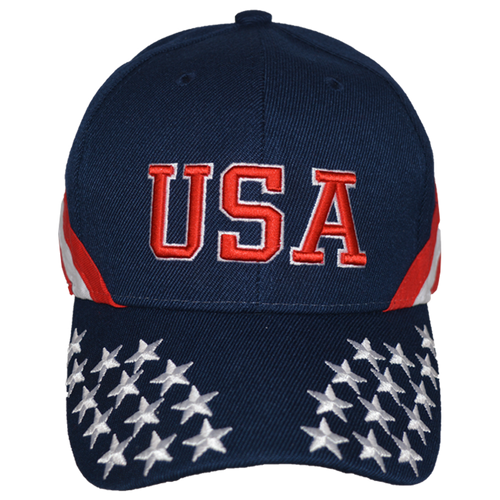 Navy Embroidered Stars & Stripes Cap