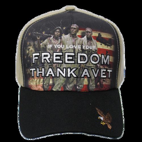 Thank a Vet Soldiers Black Brim Cap