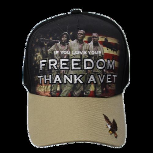 Thank a Vet Soldiers Khaki Brim Cap