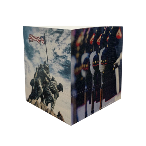 Made in the USA: US Marines Post-It Cube
