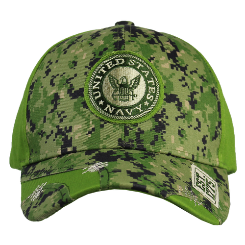 US Navy Distressed Camo Cap