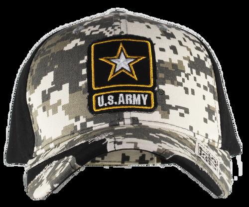 US Army Distressed Camo Cap