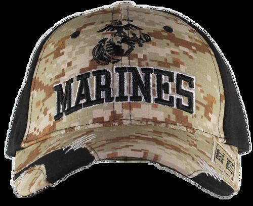 US Marines Distressed Camo Cap