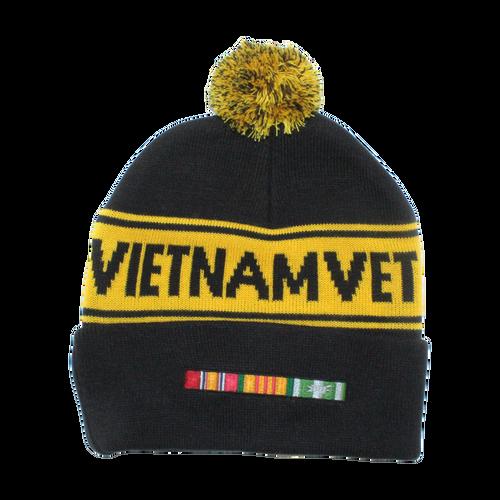 US Vietnam Veteran Pom Knit Beanie