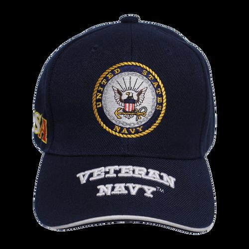 US Navy Embroidered Veteran Cap