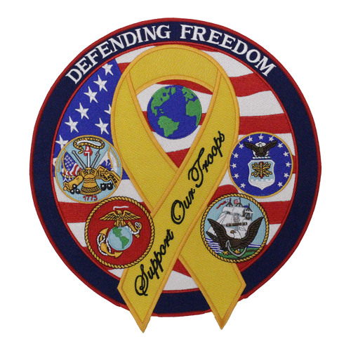 """Military Defending Freedom 12"""" Patch"""