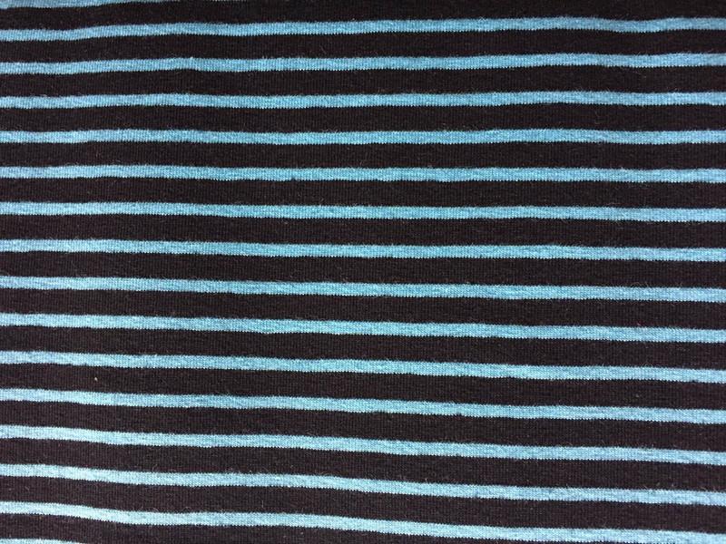 Stripe Black/Turquoise