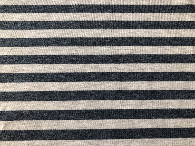 Denim grey marl stripe