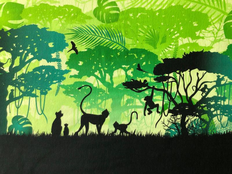 Monkey Border Print