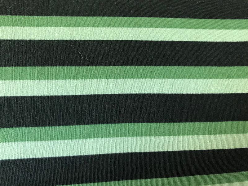 Green Stripe Sweatshirting