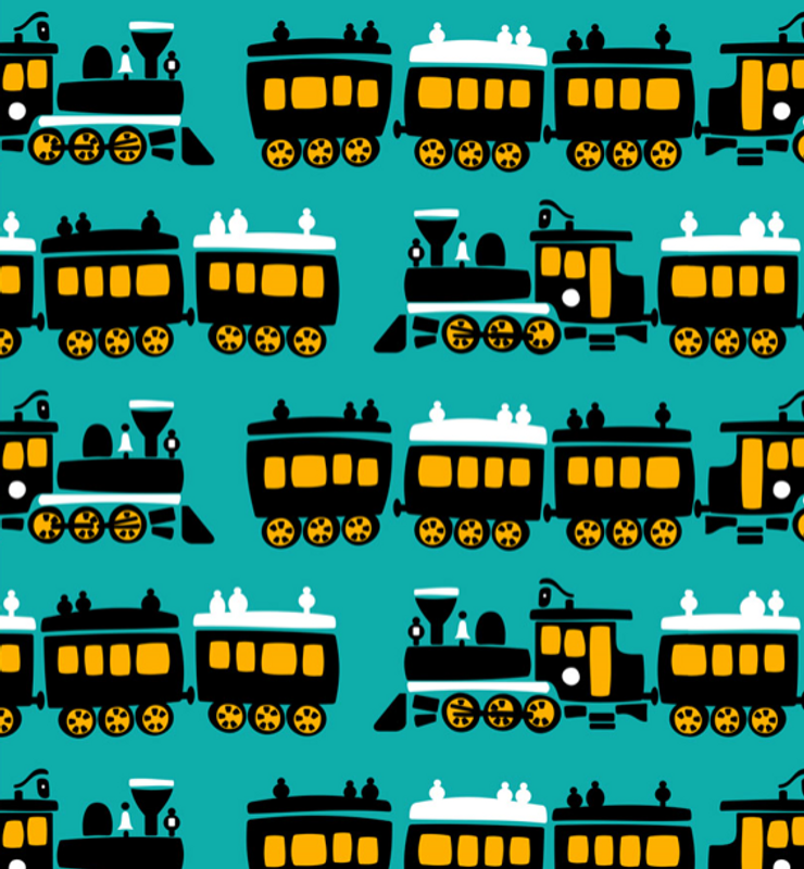 trains turquoise