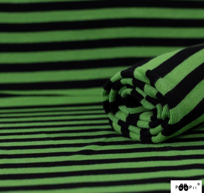 Black/Green Strip Ribb