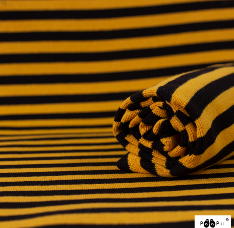 Mustard Black Stripe Ribb