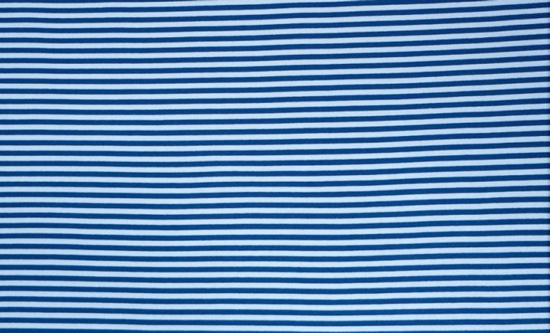 Blue/White Stripe Ribbing LS